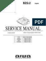 A Aiwa service manual CD mechanism