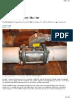 Flow Meter Accuracy Matters
