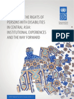 Promoting the rights of persons with disabilities in Central Asia