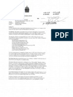 Letter from Senate to Mike Duffy