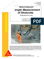 Method Statement Shotcrete Testing