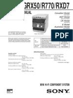 RXD7 Service Manual