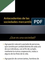 Antecedentes de Las Sociedades Mercantiles