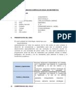 Programacion Anual de Matematica 2014