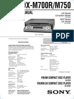 CD Playersony Cdx-m700r