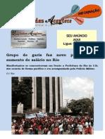 Grupo de garis faz novo protesto por aumento de salário no Rio