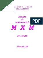 49329203 Revista de Matematica MXM Nr 1 2010