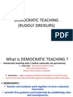 Democratic Teaching (Rudolf Dreikurs)