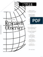 The World Bank Researcho Observer