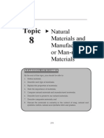 Topic 8 Natural Materials and Manufactured or Man Made Materials
