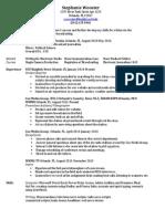 resume-stephanie wooster