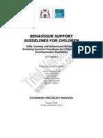 Behaviour Support Guidelines Children