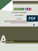 OpinionWay pour CLAI _Metro_LCI-Questions d'actualité-Mars2014