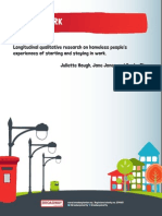 Keeping Work Full Report Longitudinal Qualitative Research on Homeless People s Experiences of Starting and Staying in Work Summary Report