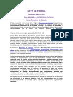 Nota de Prensa #8M 2014 Feministes de Catalunya (Cast)