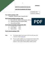 CE-2014 Screening Test Syllabi