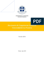 Diccionario competencias genéricas. Universidad de La Frontera