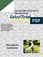 Exposición proceso de prevención