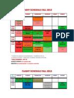 Flashy Schedule - Fall 2013 [Updated]
