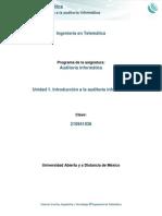 Unidad 1. Introducción a la auditoría informática