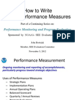 How to Write Great Performance Measures