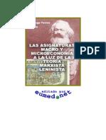 Las asignaturas Macro y Microeconomía a la luz de la teoría m-l.