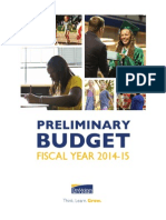 The preliminary budget of Des Moines Public Schools for FY 2014-15.