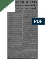 Entrevista a sobreviviente del terremoto de Fraijanes de 1888 (Periódico La Información, 15 de abril de 1910)