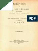 Escritos de don Manuel de Salas y documentos relativos a él y a su familia. T.III. 1914