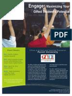 Parent University Flyer March20, 2014