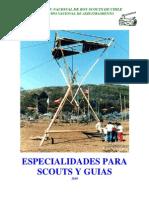 Especialidades para Scouts y Guías 2010