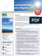 Global Concentrated Solar Power Industry Report 2010-2010