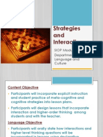 siop strategies and interactions