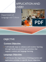 practice application and lesson delivery siop1 28 14