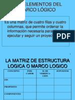 LOS ELEMENTOS DEL MARCO LÓGICO
