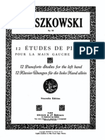 Moszkowski 12_Etudes para mão esquerda_Op_92_