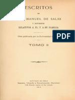 Escritos de don Manuel de Salas y documentos relativos a él y a su familia. T.II. 1914
