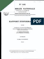 Rapport d'information. commission des affaires culturelles, familiales et sociales. 1989