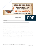BBQ Cook-Off 2014 Entry Form & Rules