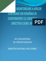 Sistemul de Monitorizare a Apelor Subterane Din Romania in Conformitate Cu Cerintele Directivei Cadru Apa
