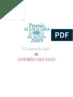 Dossier de Prensa Premio Alfaguara Novela
