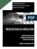 Reuso Da Agua Na Agricultura
