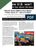 No new U.S. war! Stop media lies about Ukraine