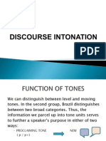 Discourse Intonation Phonetics Brazil Function Part II