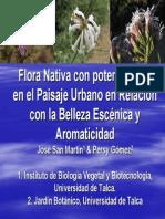 Flora nativa con potencial uso en el paisaje urbano en relación con la belleza escénica y aromaticidad