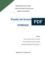 FONDAS Finanzas Trabajo.