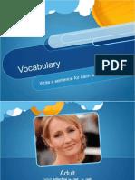 vocab adult