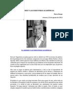 EL AJEDREZ Y LAS INDUSTRIAS ACADÉMICAS. MARIO BUNGE