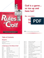 A Summary of the Rules of Golf
