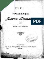 STATUT DORNA TISMANA 1908